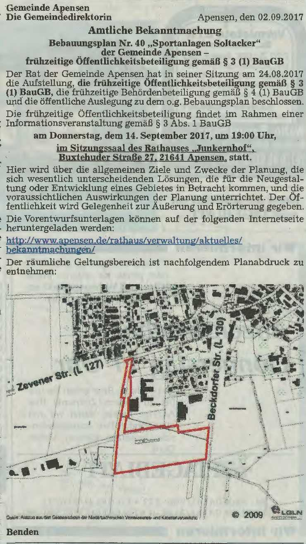 Buxtehuder Tageblatt vom 02.09.2017