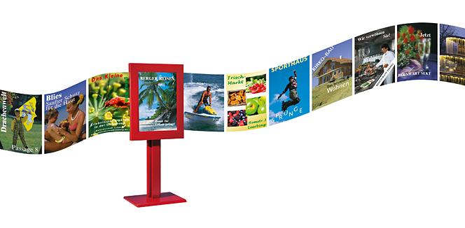 Plakatband als Illustrationsidee zu Vorteil und Funktion von Motion Displays
