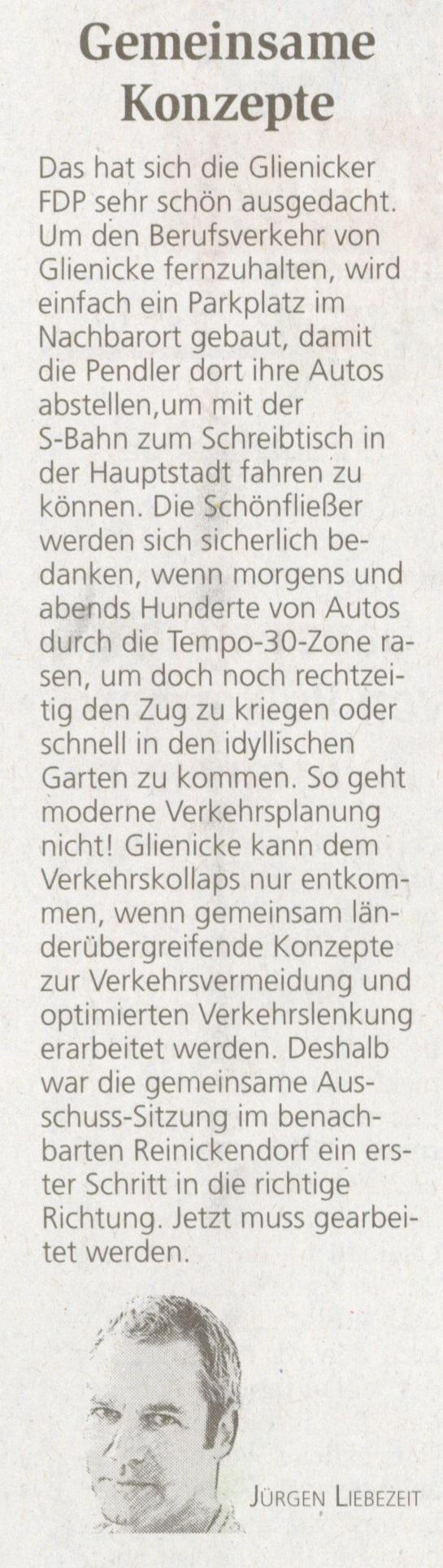 Kommentar Jürgen Liebezeit, Oranienburger Generalanzeiger 24.04.2015