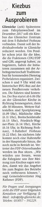 Oranienburger Generalanzeiger, 05.11.2016