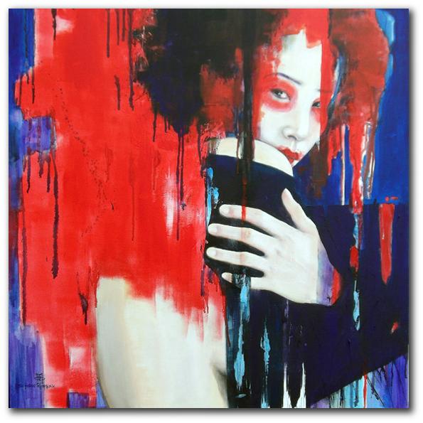 """geisha"" 90 x 90 cm, 2013"