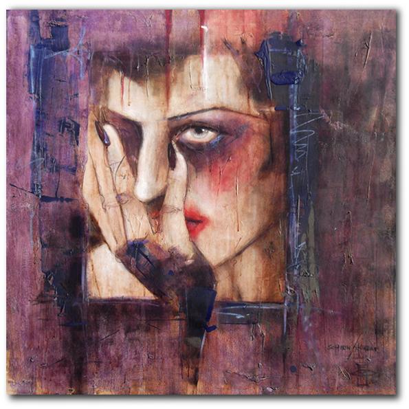 """""""lust"""" 90 x90 cm, 2013"""
