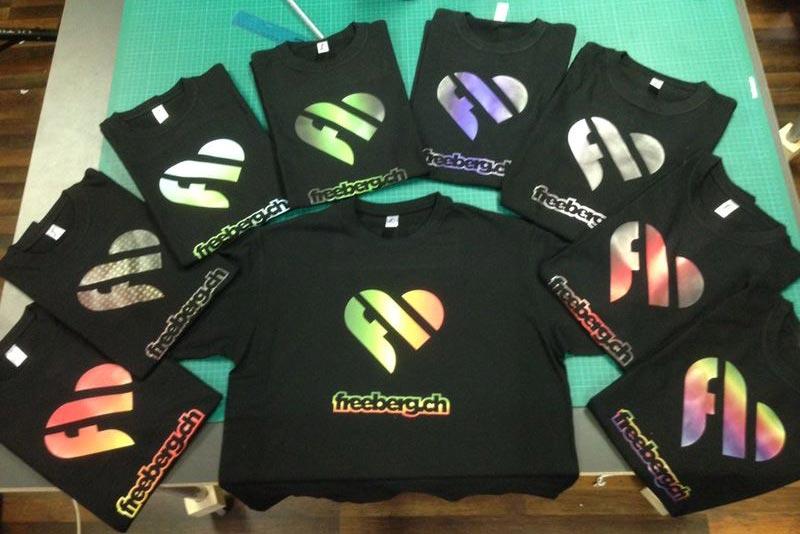 Verschiedene T-Shirts für den Freeberg Sportshop in Buchs SG