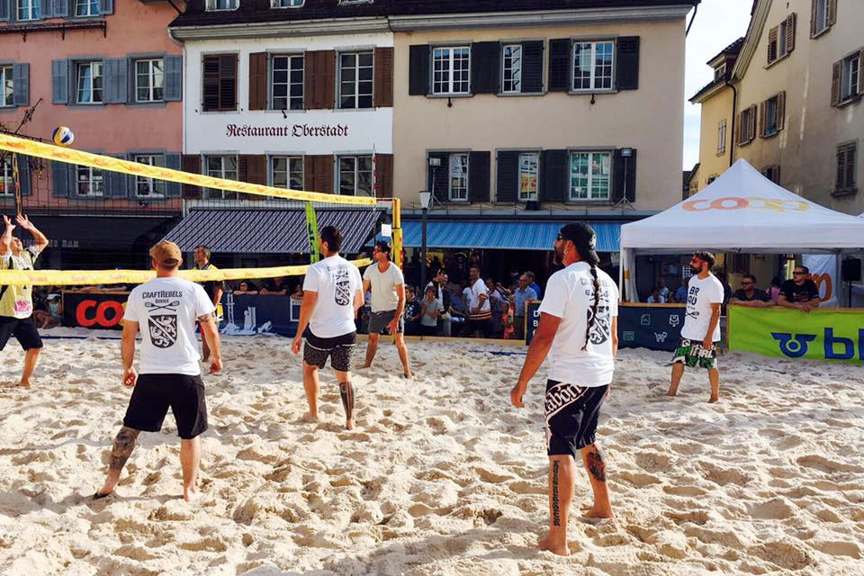 T-Shirts für das CraftRebels Team am Beachvolleyball Turnier in Sursee