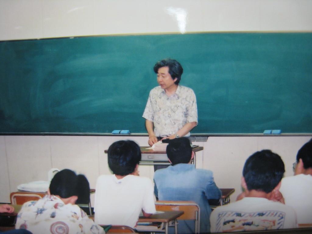 山田洋次監督 来校 99・9 「次作る映画は定時制を舞台にしたい」
