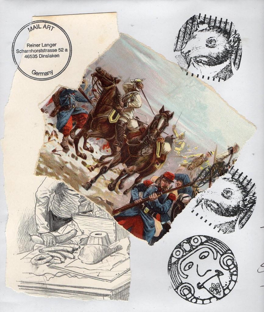 """Ausgehende MAIL - ART Projekt """" WAR """" by Reiner Langer   an Roman M. Castenholz , DEUTSCHLAND"""