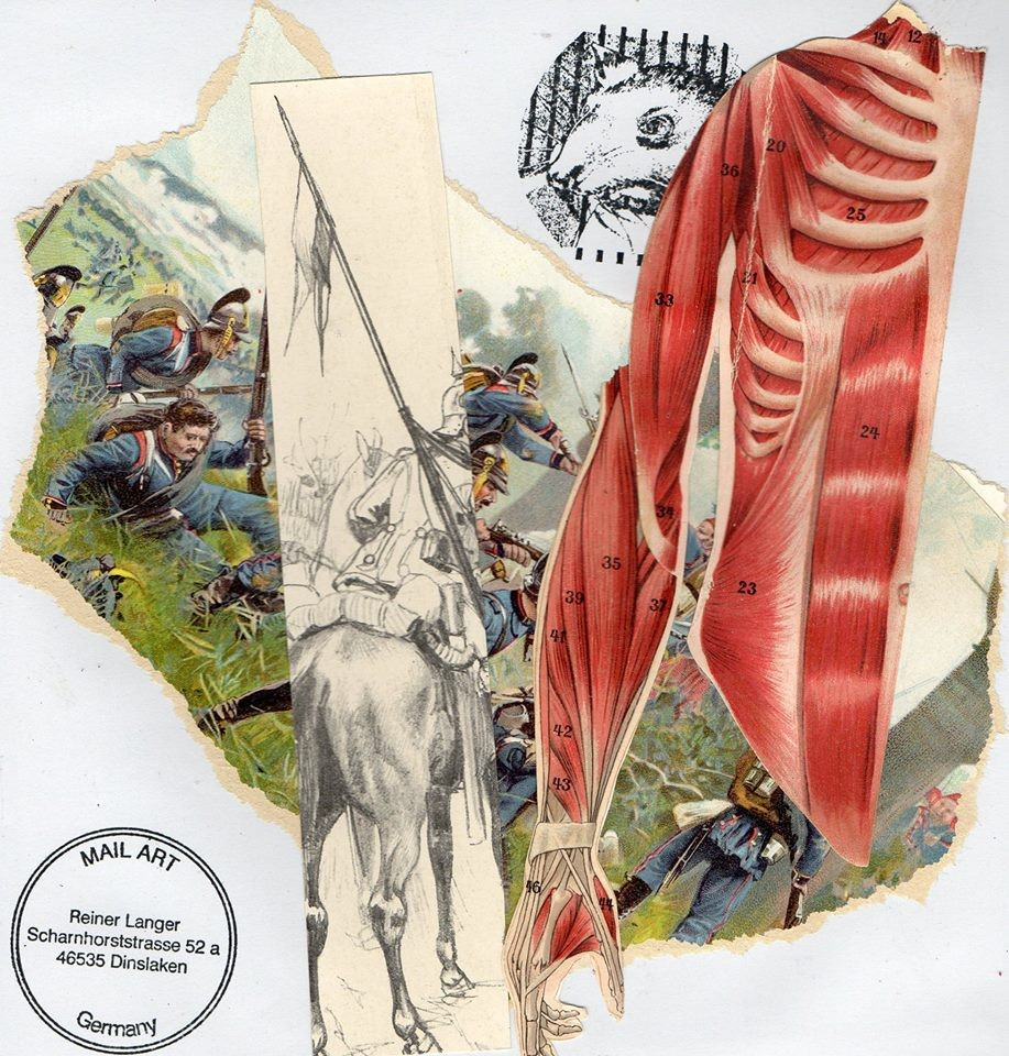 "Ausgehende MAIL - ART Projekt "" WAR "" by Reiner Langer   an Lothar Trott, Schweiz"