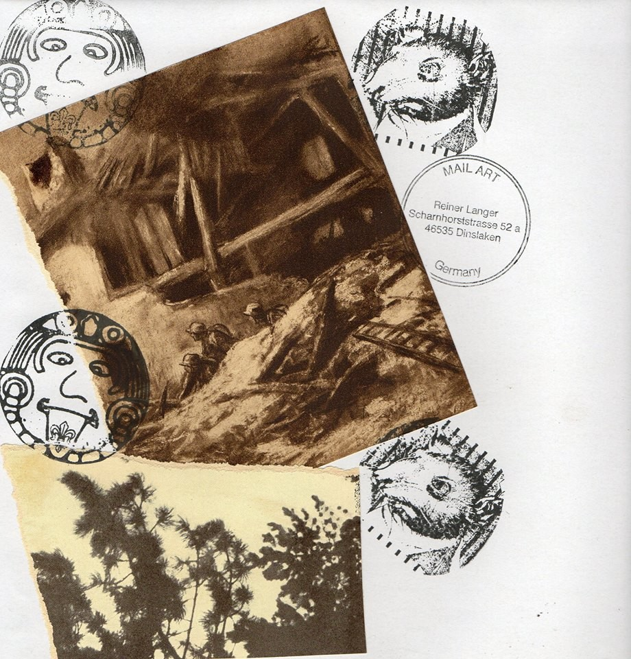 "Ausgehende MAIL - ART Projekt AGAINST "" WAR "" by Reiner Langer   an Cheryl Penn , SÜDAFRIKA"