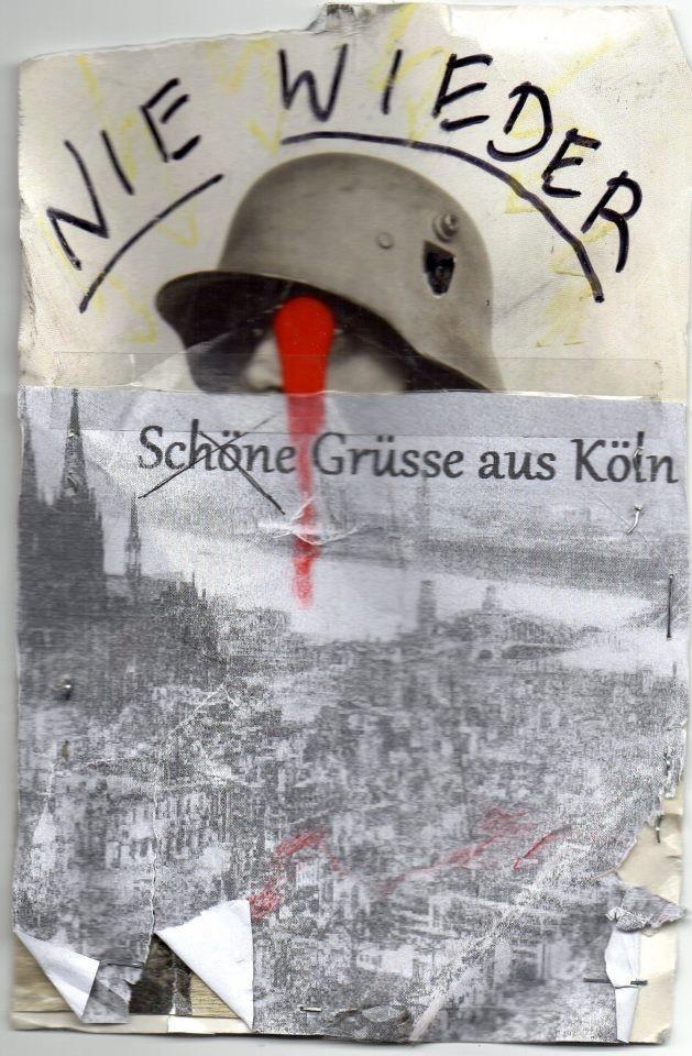 """EINGEHENDE MAIL - ART PROJEKT """" WAR """" by Reiner Langer  von HORST TRESS"""
