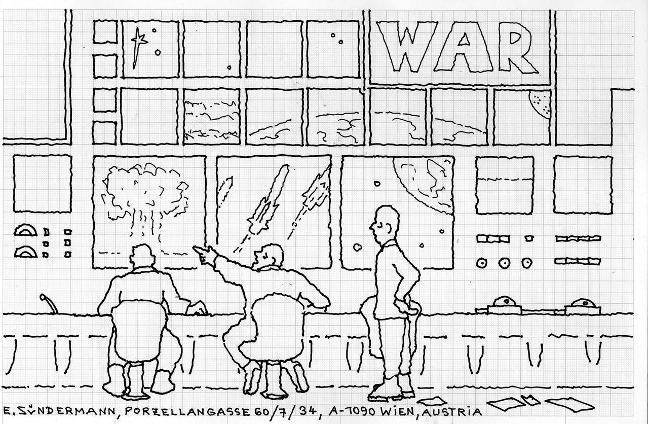 """Eingehende MAIL - ART Projekt """" WAR """" by Reiner Langer   von Erich Sündermann , ÖSTERREICH"""