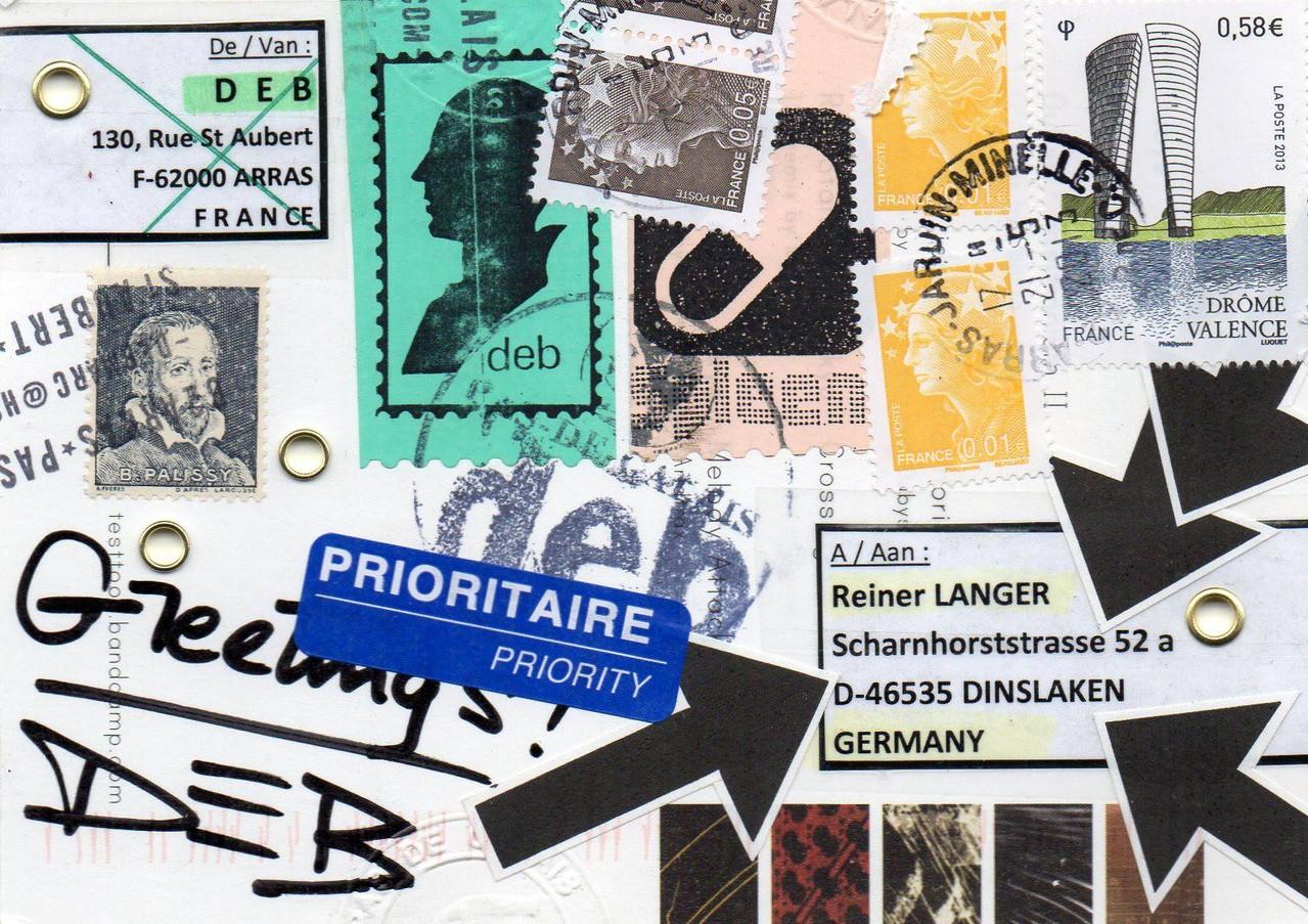 """Eingehende MAIL - ART Projekt """" WAR """" by Reiner Langer   von MARC DEB, Frankreich"""
