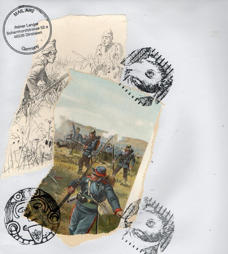 """Ausgehende MAIL - ART Projekt """" WAR """" by Reiner Langer   von Henning Mittendorf , DEUTSCHLAND"""
