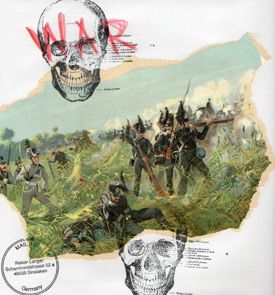 """AUSGEHENDE MAIL _ ART PROJEKT """" WAR """" by Reiner Langer  an SERMILÄ,Finland"""