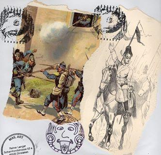 """Ausgehende MAIL - ART Projekt """" WAR """" by Reiner Langer   an Roland Halbritter No. 2"""