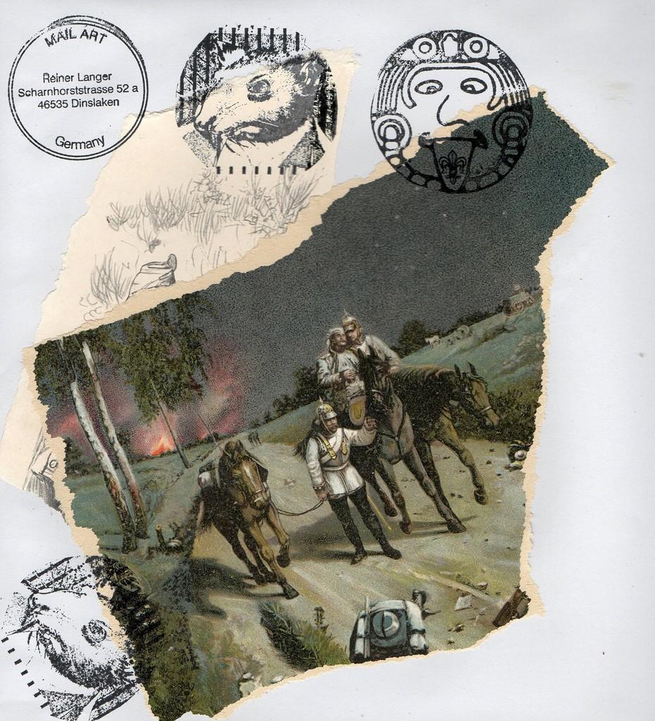 """Ausgehende MAIL - ART Projekt """" WAR """" by Reiner Langer   an Emilio Morandi , ITALIEN"""