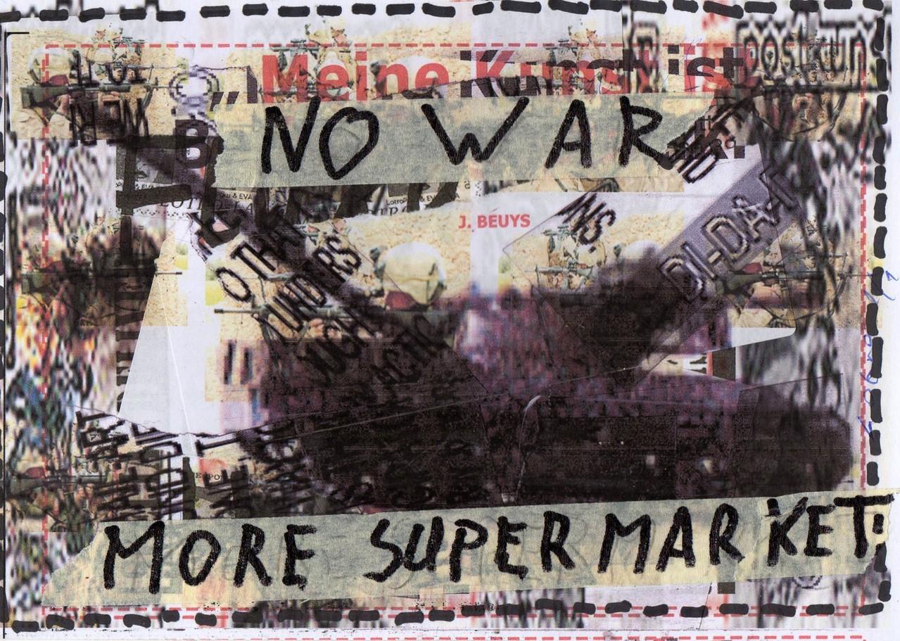 """Eingehende MAIL - ART Projekt """" WAR """" by Reiner Langer   von Lothar Trott, Schweiz"""