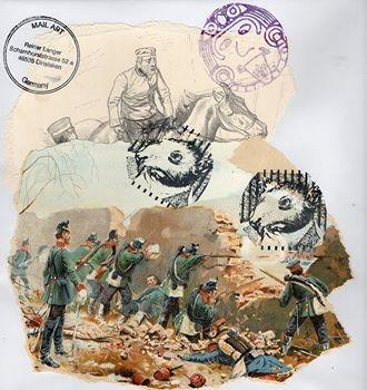 """Ausgehende MAIL - ART Projekt """" WAR """" by Reiner Langer   an DADANAUTIK No. 2"""