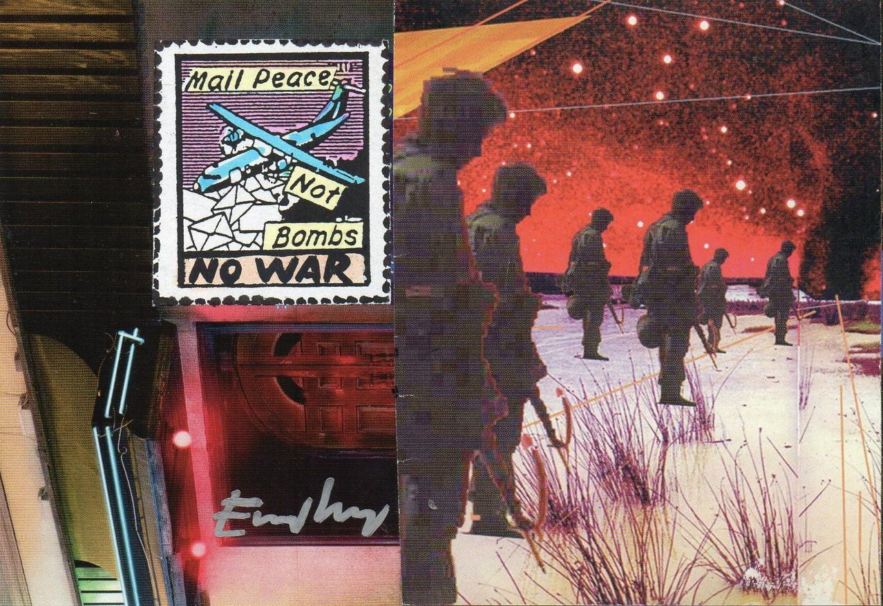 """Eingehende MAIL - ART Projekt """" WAR """" by Reiner Langer   von Emilio Morandi , ITALIEN"""