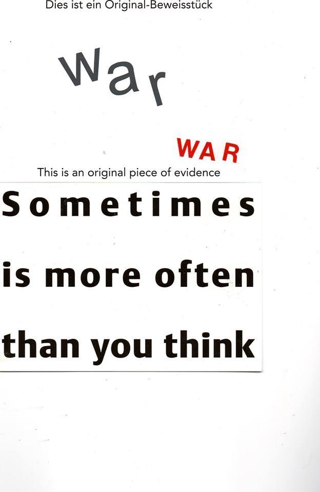 """Eingehende MAIL - ART Projekt """" WAR """" by Reiner Langer   von Jürgen O. Olbrich , DEUTSCHLAND"""