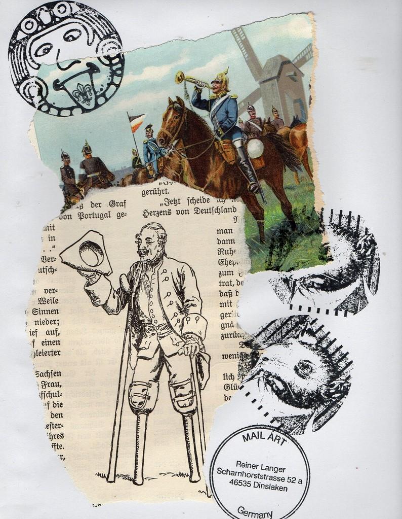 "Ausgehende MAIL - ART Projekt "" WAR "" by Reiner Langer   an KUNST KELLER Jörg Seifert , DEUTSCHLAND"