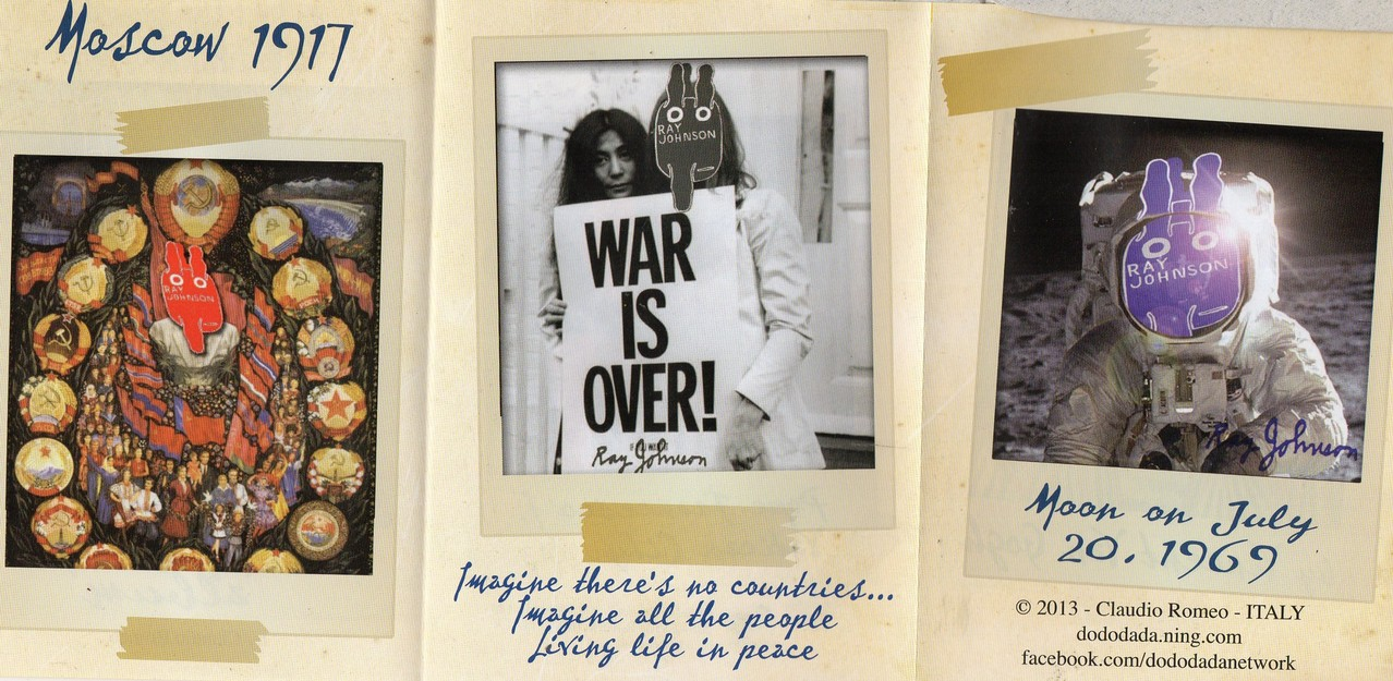 "Eingehende MAIL - ART Projekt AGAINST "" WAR "" by Reiner Langer   von Claudio Romeo , ITALIEN"