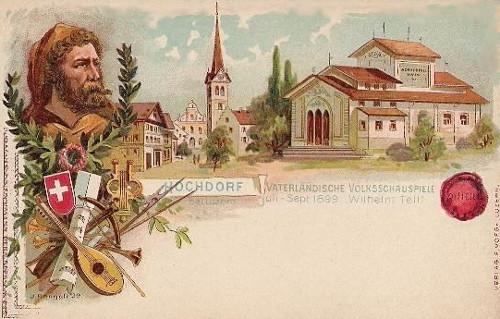 Reklame-Postkarte (Der Maler hatte ein wenig Fantasie hinzugefügt)