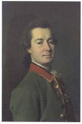 Д.Г. Левицкий. Портрет Е.И. Пальменбаха. 1775. Изображен в драгунском мундире в звании секунд-майора