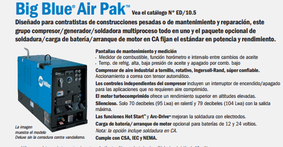 Soldadora Miller Big Blue Air Pak
