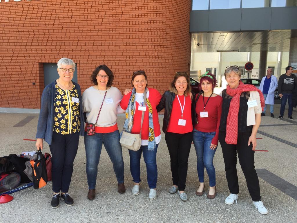 Groupement Collaboratif de Sophrologues au CHRU de Lille, devant l'Institut Cœur Poumons, Olympiades du Cœur 2019