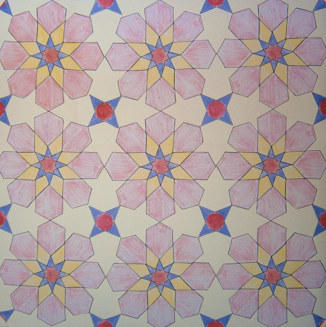 Mozaiek met achtvoudige lokale symmetrie.