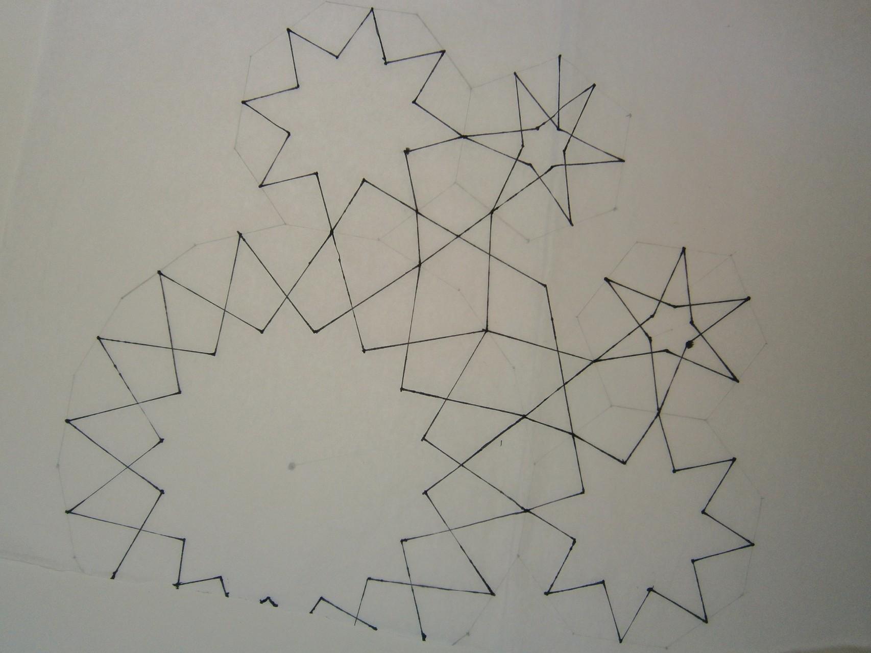 Een eerste ontwerp van een uniek nieuw geometrisch patroon. . .