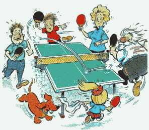 """Jeden Freitag um 08:00 Uhr findet im Gemeindehaus """"Tischtennis für jedermann"""" statt"""