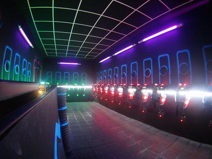 Salle des gilets de Laser Game