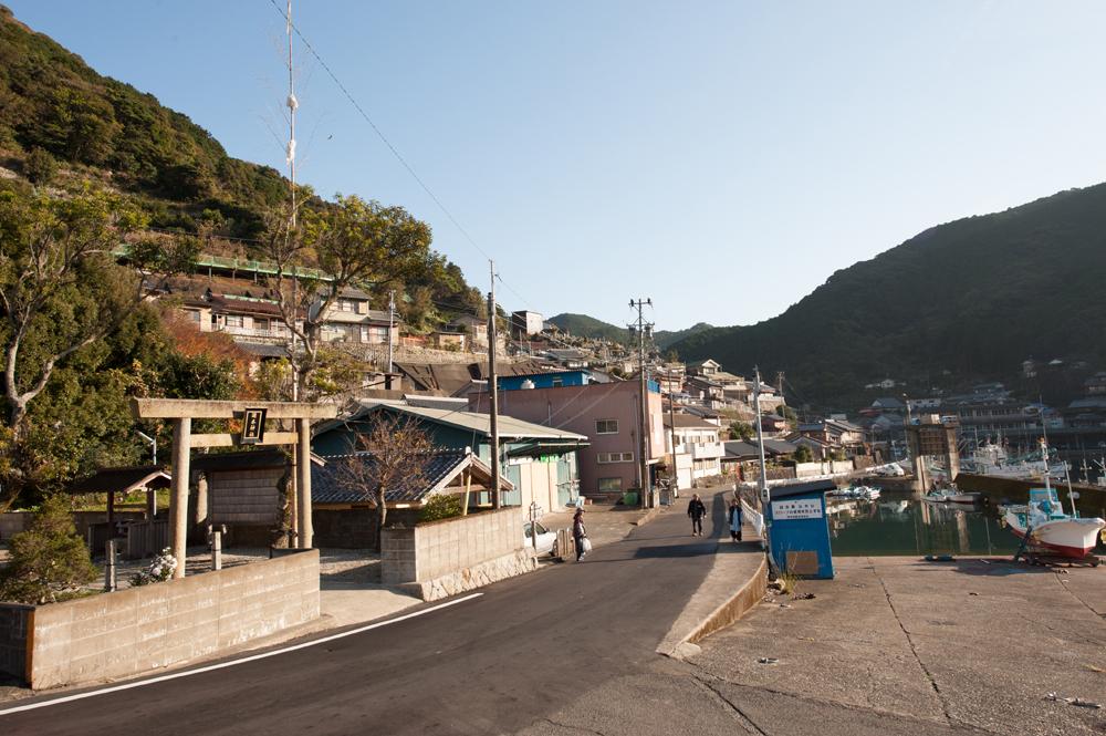 遊木町の景色です。レトロな漁師町です。