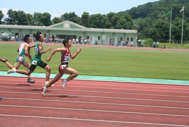 3年男子100m2位 県大会出場