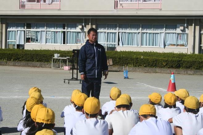 桜山小学校のマラソン大会を前に、