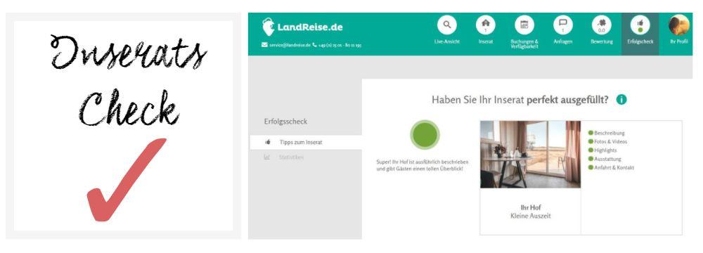 So wird Ihre Unterkunft auf LandReise.de gefunden