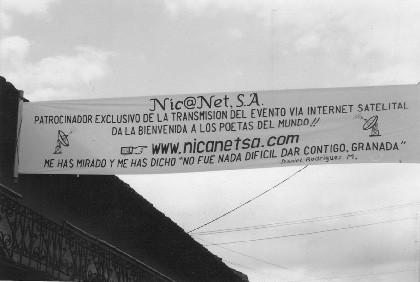 Un poema en una manta, en Granada (Nicaragua)