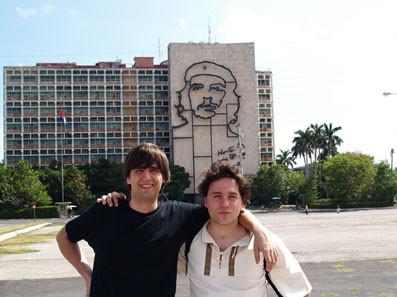 Con Fernando Valverde en La Habana