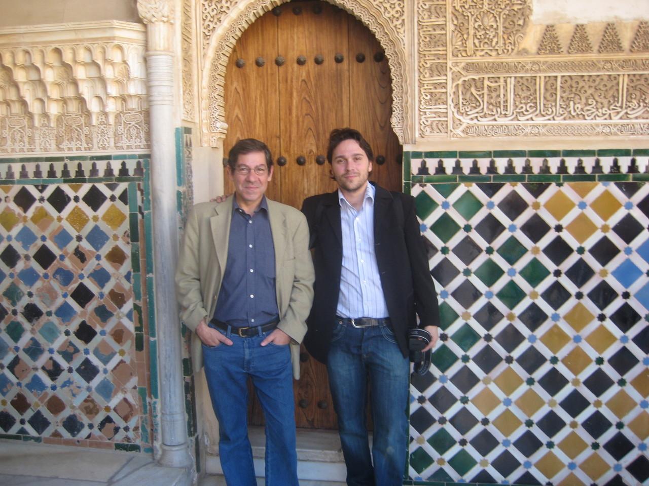 Con Nuno Júdice en la Alhambra (Granada).