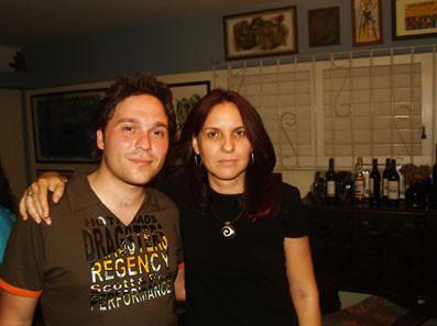 Con la cantante Rochy Ameneiro, en La Habana