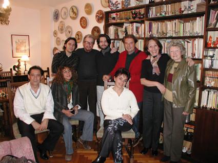 En casa del poeta José Carlos Gallardo. Buenos Aires.