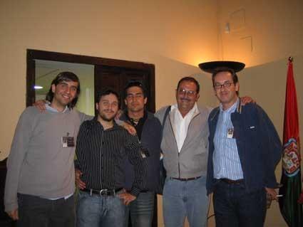 Con Fernando Valverde, Tito Valverde, Rodolfo Dada y