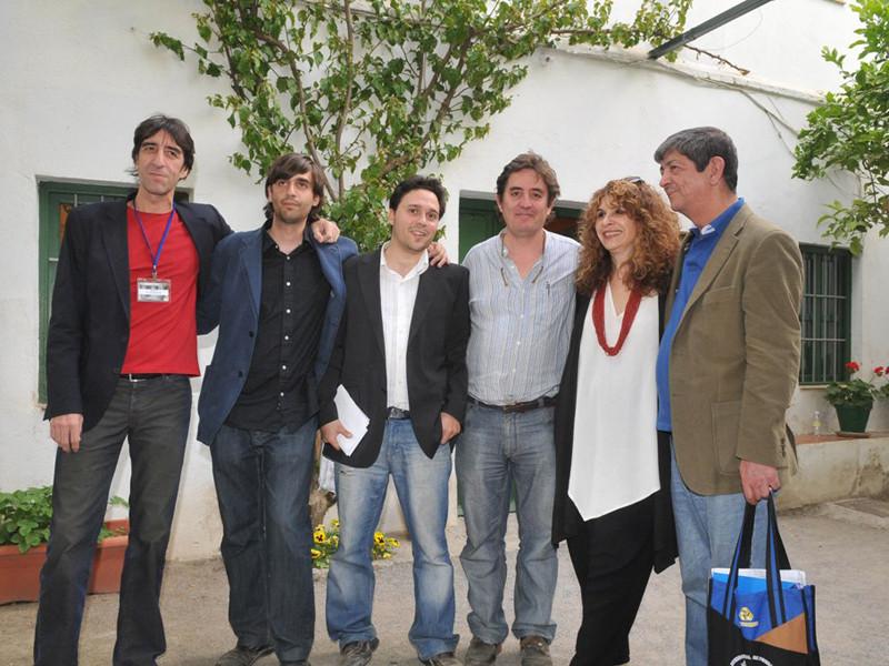 Con Gioconda Belli, Chus Visor, Luis García Montero, Benjamín Prado y Fernando Valverde.