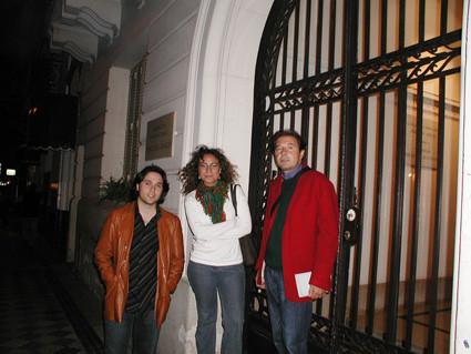 Con Marga Blanco y Fernando de Villena en Buenos Aires