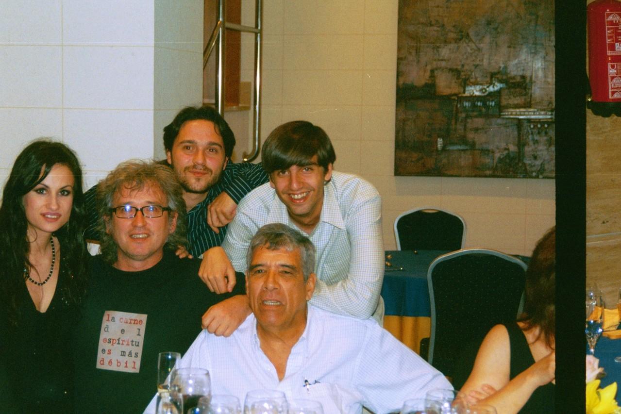 Con Fernando Valvede, Miguel Ángel Arcas y Guillermo Rodríguez