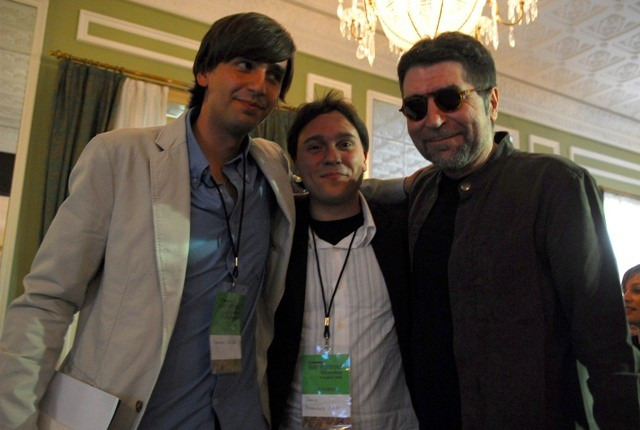 Con Joaquín Sabina y Fernando Valverde en el Hay Festival.