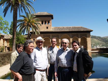 Con Juan Carlos Orihuela, Nuno Júdice, Waldo Leyva, Javier Bozalongo y Juan Gelman