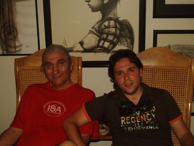 Con Waldo Leyva en La Habana.