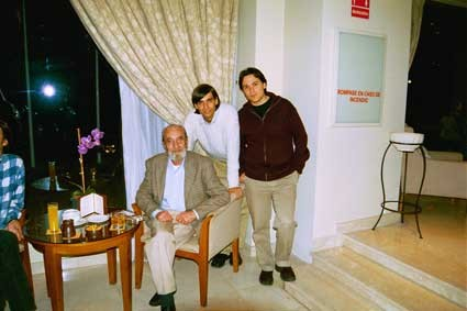 Con Ángel González y Fernando Valverde